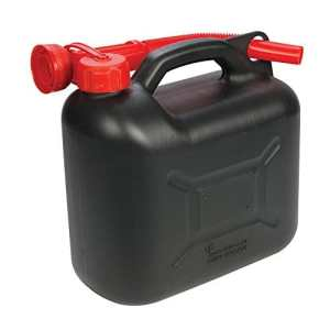Silverline 199991 Bidon à Carburant Plastique 5 L Noir