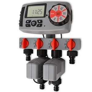 vidaXL Minuterie d'arrosage automatique avec 4 stations 3 V