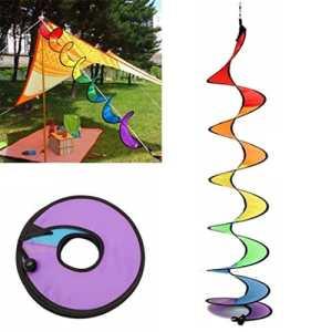 VWH Wind spirale Spinner à suspendre Vent Twister pour tente Jardin Camping pique-nique Décoration coloré