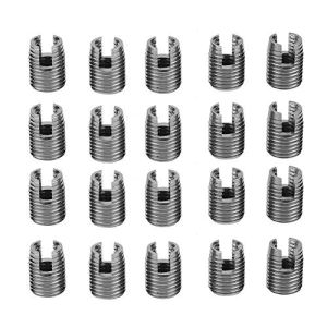 1 set Inserts Filetés Auto-Taraudeurs 302 Type en Acier Inoxydable SUS303 à 3 Trous Utilisés Dans Matériaux de Faible Résistance (#3)
