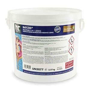 1 x 5 kg Chlore Multifonction en galets de 200g – FRAIS DE PORT OFFERT – en seau de 5 kg