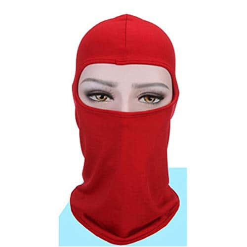 ARFUTE Cycling Riding Face Mask Face Protective Anti-Wind Soft Mask(Pure Red)