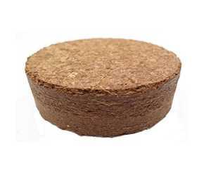 Boulettes gonflants à la noix de coco d'environ Ø 35 mm, 1200 pièces (EUR 0,10 / pièce), terreau sans tourbe à base de fibres de coco pressées, rendement d'environ 90 ml par boulette