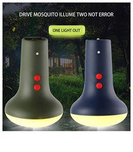 Buimin Lampe anti-moustiques électrique Répulsif Camping Éclairage Onde lumineuse Anti-moustique Ajustement de la vitesse variable Anti-moustique Lampe de poche balcon le jardin (A)