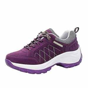Chaussures de Sport, LuckyGirls Mode Nouveau Automne Hiver Femmes Flying Woven Mesh Chaussures De Sport Casual Chaussures à Bascule à Semelle éPaisse Sneakers Mocassins Femme 35-42