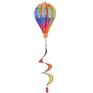 CIM Jeux de Vent Mongolfière – Micro Balloon Butterfly Twister – Résistant aux intempéries – Ballon: Ø17 cm x 28 cm, Panier: 4 cm x 3,5 cm, spirale: Ø10 cm x 35 cm – avec suspension