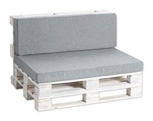 Coussins pour palettes, siège, Appui, Mousse, Lisse (Siège 120×60 Lisse, Gris)
