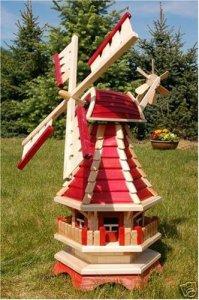 Deko-Shop-Hannusch Grand moulin à vent décoratif à roulement à billes 1 m