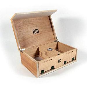 Grande boîte de conservation avec tamis couleur bois – Fum Box