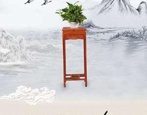 JBP max Stand de Fleurs Salon Rouge Poire Bois Fleur Stand Bois Antique sculpté Fleur Stand Balcon Bonsai cadre-JBP30