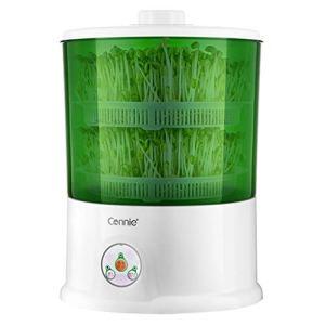 Machine de germes de soja, Grande capacité de ménage entièrement Automatique, Machine de Plantation de germes de Culture à température constante Intelligente, Double Couche Blanche