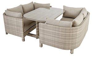 Ocean – Ensemble Lounge 2 Canapes Et Une Table avec Plateau Verre Coussins Inclus