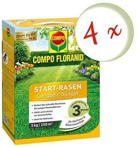 Oleanderhof® Lot économique : 4 pelouses de gazon Compo Floranid® Start-Rasoir longue durée 5 kg + Oleanderhof Flyer