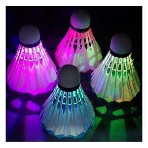 Sunnyshinee lumineux de badminton Boule de lumière LED de badminton Balle en mousse (Rouge)