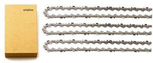 Tallox Lot de 3 chaînes de tronçonneuse 3/8″ 1,3 mm 40 TG 25 cm