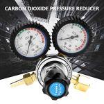 TOPINCN Régulateur de Pression pour Gaz de Protection Argon/CO2 Détendeur Dioxyde De Carbone Bière Kegerator Détendeur