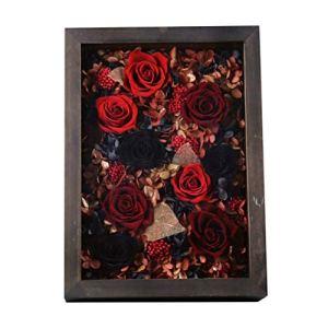 ZHAO ZHANQIANG Cadre Photo en Bois présentoir Cadeau de Bois de Rose Frais Cadeau de Vrai Cadeau d'anniversaire de la Saint Valentin, Cadeau d'anniversaire, Cadeau d'anniversaire (Couleur : Rouge)