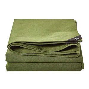 AINIYF Couverture d'ombrage de Camping en Plein air ArmyGreen imperméable Double de bâche résistante Faite en Toile épaisse – 100% imperméable et protégée Contre Les UV – 600g / m², épaisseur 0.8mm
