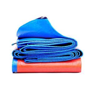 Bâche Auvents Bleus Toile Camping Toile Coupe-Vent Toile d'ombrage extérieure Toile à Double Face Anti-Pluie PVC de Pique-Nique Résistant aux UV,10X15M