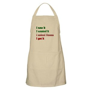 CafePress Tablier pour Barbecue Inscription I Asked Nonna Standard Kaki