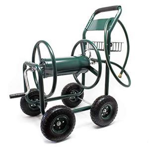 Chariot dévidoir pour Tuyau d'arrosage sur Roues Jardin Enrouleur avec Tuyau Mobile Raccord rapide