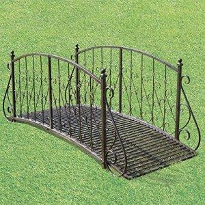 chemin_de_campagne Pont Passerelle Jardin Ruisseau Pont Passerelle Metal Fer 185 cm
