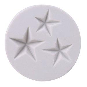 LnLyin étoiles Forme Moule en Silicone Fondant Moules à Chocolat Candy Moules Moule Cookie Moule à Savon pour décoration Moules, Silicone, Type 2, Three Stars