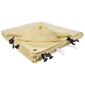 OSE Toile de rechange beige auvent tonnelle adossée 3 x 4m – Beige