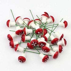 Yofafada 10 Mini Mousse Rouge Champignon Jardin Miniature Succulent Artisanat Bonsai Potted