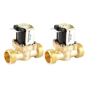 12V G3 / 4 Laiton N/C Distributeur d'eau 6 points Vanne électromagnétique électrique normalement fermée Vanne de régulation de pression 2 voies 12V … (2PCS)
