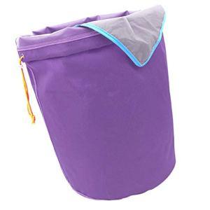 B Blesiya Ice-O-Lator Bubble Bag- 5 Gallon-8 Sac- Glace Herbacé Sac De Mousse à Hachage Huile Sac D'extraction – Violet-25 microns