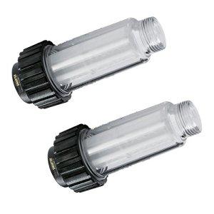 One 5.731-050.0) Lot de 2 filtres à eau avec filtre pour tous les nettoyeurs haute pression avec raccord d'eau 3/4″ comme Kärcher K2-K7 compatible avec 4.730-059.0