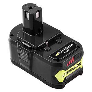 Topbatt 18V 5.0Ah Batterie de remplacement pour Ryobi Li-ion One+ RB18L50 RB18L40 RB18L25 RB18L15 RB18L13 P108 P107 P122 P104 P105 P102 P103 avec indicateur de charge à LED
