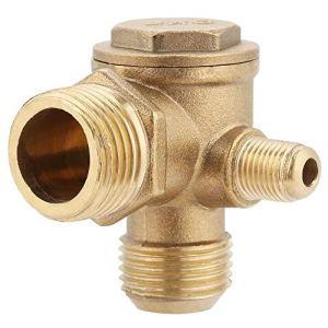 Vanne anti-retour en laiton – Compresseur d'air extérieur – Filetage de valve 90 ° 20 x 19 x 10 mm