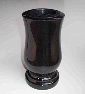 'designgrab «Taille de Exclusiv XL Tombe Vase en granit suédois Black SS1Noir cimetière en pierre tombale