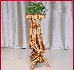 $Etagère d'exposition Racine de support de fleur de bois solide Racine de plante intérieure de salon de balcon grand ( Couleur : B )