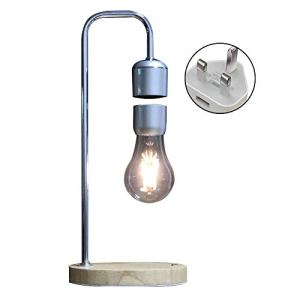 LOKJOM Accueil Lampe De Bureau LED Magnétique Lévitation Cadeaux Décor Tech Jouets Tuyau Coudé Flottant Ampoule Table en Bois Night Light Bureau Chambre,EU