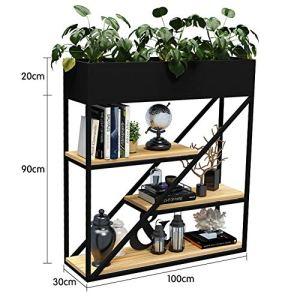 Support de fleurs simple en fer forgé vert Radis en bois massif pour balcon et bureau