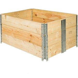 TecTake Cadre pour Plate-Bande surélevée de Jardin Pliable en Bois Potager 120x80x19cm – diverses quantités – (3X Cadre Plate-Bande | no. 402272)