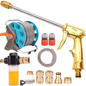 TYUIO Pistolet de pulvérisation à haute pression en laiton en laiton résistant de bec de pulvérisateur en métal en métal résistant à l'eau de rotation de 360 ° for le lavage de voiture, jardinage ex