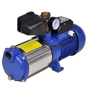 vidaXL Pompe à eau de surface Jardin Arrosage bleue avec manomètre 1300W 5100 l/h
