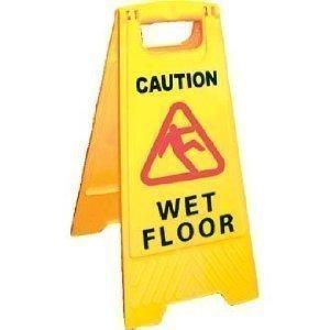 Caution Wet Floor/Caution Cleaning in Progress Panneau 2Côtés