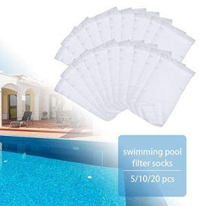 Chaussettes pour skimmer de piscine, économiseurs de filtre pour paniers et skimmers, doublure de chaussette en tamis fin pour filtres de panier, filtres en nylon élastique durables pour piscines