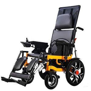 HIZH Fauteuil Roulant, Pliable Multifonctions Scooter Personnes âGéEs HandicapéS Lightweight Portable Automatique éLectrique Intelligent (Peut Lie Plat), 30 Km