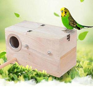 LNIMIKIY Nichoir à Oiseaux Maison chaleureuse et respectueuse de l'environnement – Jardin Durable – Pratique – Cage en Bois – Nid d'élevage