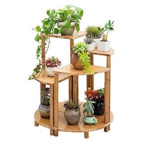 LXYPLM Étagère à Fleurs Ensemble de 4 présentoirs de Table d'appoint en Forme de Table en Bambou for Salon de Chambre à Coucher