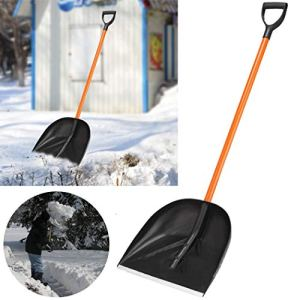 16.2″ Snow Scoop Pelle avec l'acier Large Pelle tête et poignée en Plastique légère et Extension 132 CM Acier poignée Duty Pelle à Neige pour Courtyard & Route