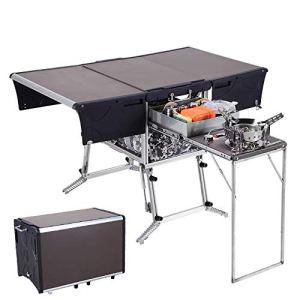 APKL Cuisine Mobile pour Camping-Cars, Cuisine extérieure Camping en Plein air Ustensiles de Cuisine Barbecue Convient pour Les Voyages en Plein air