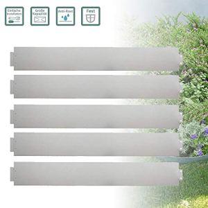 Froadp 10m Bordures de Jardin Plate-Bande de Galvanisé Métal Bordures de Pelouse pour Jardin Conception Plantes Légumes Herbe Floral en Croissance(100x14cm)