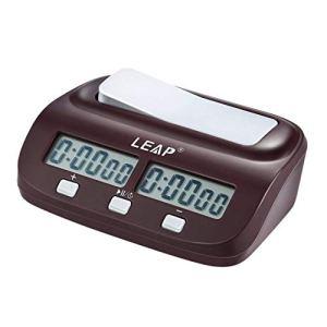 Jpstyle Professional Compact Digital Chess Clock Horloge Compte à rebours Minuteur Jeu de société électronique Bonus Compétition Master Tournament Gratuit